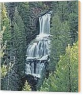 109008-undine Falls In Yellowstone Wood Print