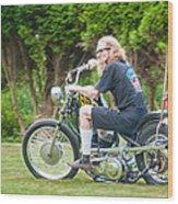 Uneasy Rider Wood Print