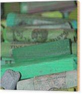 Unemployment Line Wood Print
