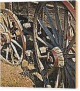 Unequal Wheels Wood Print