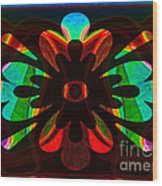 Unequivocal Truths Abstract Symbols Artwork Wood Print