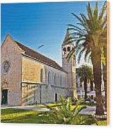 Unesco Town Of Trogir Church View Wood Print