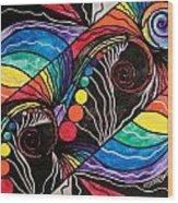 Unfold Wood Print by Teal Eye  Print Store