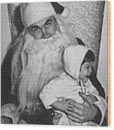 Unhappy Santa Claus Wood Print