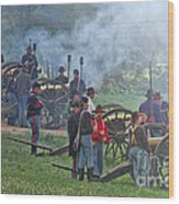Union Artillery Battery Wood Print