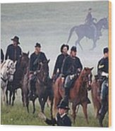 Union Cavalry On The March - Perryville Ky Wood Print
