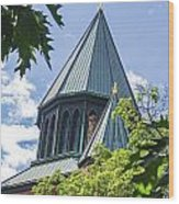 Union Collage Church Wood Print