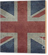 Union Jack 1 By 2 Version Wood Print