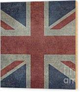Union Jack 3 By 5 Version Wood Print