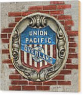 Union Pacific Crest Wood Print