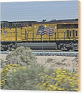 Union Pacific Wood Print
