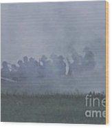 Union Skirmish Line Wood Print