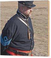 Union Soldier At Brooksville Raid Wood Print