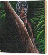 Union Squirrel Wood Print
