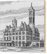 Union Station In Nashville Tn Wood Print