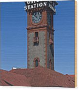 Union Station In Portland Oregon Wood Print