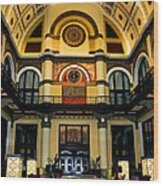 Union Station Lobby Larger Wood Print