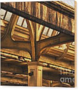 Union Station Roof Structure Wood Print