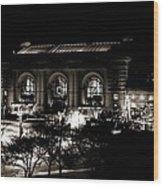 Union Station Sepia Wood Print