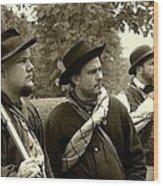 Union Troops Awaiting Orders - Brandenburg Ky Wood Print