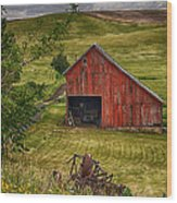 Unique Barn In The Palouse Wood Print