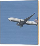 United Airlines Jet 7d21942 Wood Print by Wingsdomain Art and Photography