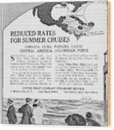 United Fruit Company, 1922 Wood Print