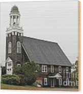 United Methodist Church New Harbor Maine Wood Print