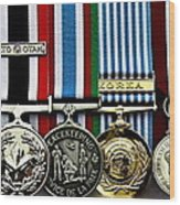 United Nations Peacekeeping Korean War Nato Medals Wood Print