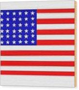 United States 30 Stars Flag Wood Print
