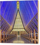 United States Airforce Academy Chapel Interior Wood Print