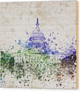 United States Capitol Wood Print by Aged Pixel