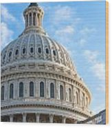 United States Capitol Building Dome Wood Print