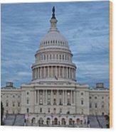 United States Capitol Building Wood Print by Kim Hojnacki