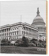 United States Capitol Senate Wing Wood Print