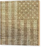 United States Declaration Of Independence Wood Print by Dan Sproul