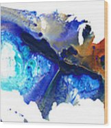 United States Of America Map 7 - Colorful Usa Wood Print
