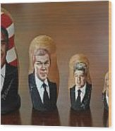 United States Presidents Wood Print