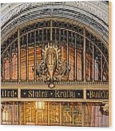 United States Realty Building Entrance Wood Print