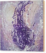 Universal Love Pastel Purple Lilac Abstract By Chakramoon Wood Print