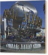 Universal Studios Globe Wood Print