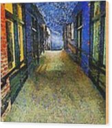 Universe Alley Wood Print