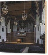 University Auditorium And The Anderson Memorial Organ Wood Print