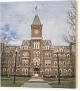 University Hall Ohio State University  Wood Print