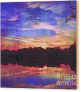 University Lakes At Twilight Wood Print