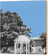 University North Carolina Chapel Hill - Light Blue Wood Print
