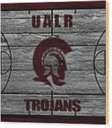 University Of Arkansas At Little Rock Trojans Wood Print