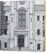 University Of Arkansas Wood Print by Frederic Kohli