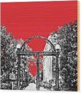 University Of Georgia - Georgia Arch - Red Wood Print