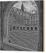 University Of Sydney-black And White V3 Wood Print